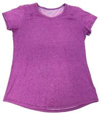 COLUMBIA Purple/Pink XL6631 WOMEN's Knit SHIRT s/s Cotton/Polyester Ruched Sz M