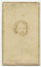 LITTLE GIRL WITH CRAZY CURLS, POUTY EXPRESSION. CDV. N.Y.