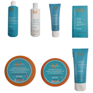 MOROCCAN OIL REPAIR SHAMPOO, CONDITIONER, RESTORATIVE MASK, DUO + TRACK DELIVERY
