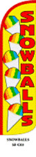 Snowballs Windless Swooper Flag  Sign