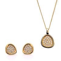 NEU Orphelia  Sterling Silber 925 Damen Set: Halskette-Anhanger + Ohrringe |