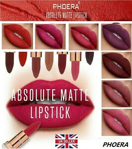 PHOERA ABSOLUTE VELVET MATTE LIPSTICK LONG LASTING WATERPROOF PIGMENT MAKEUP UK