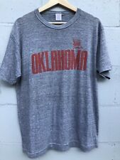 New listing Vtg 80S Oklahoma SoonersTri Blend t shirt Mens Xl Heather Gray rayon