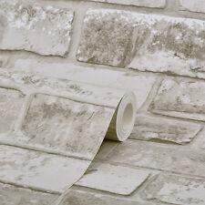Gris taupe brique papier peint 6752 réaliste effet 3D rustique feature 6752
