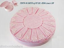 Bomboniera torta bimba comunione nascita battesimo in carta 20 pezzi D.30XH.5 CM