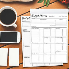 Budget Planner Notepad tracking Monthly Weekly Expense A4 size - 1 pack of 2