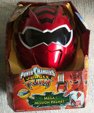 POWER RANGERS JUNGLE FURY RED MEGA MISSION HELMET NEW IN PACKAGE