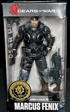 "Gears of War 4 MARCUS FENIX w/Lancer, MX8 Snub & Collector Display Stand 7"" New!"
