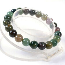 "8mm Fashion Indian agate round gemstone beads stretchable bracelet 7.5"""