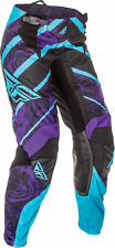 FLY KINETIC ladies (girls) motocross pants YOUTH size 24, purple/blue 369-63102