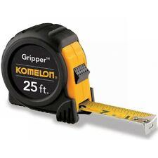 "Komelon Tape Measure The Gripper 25' x 1"" Black Case"