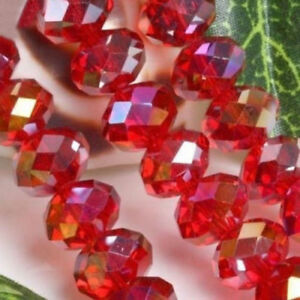 6X4mm 298pc AB Red color Bicone Jewelley Crafts Glass Crystal Bead