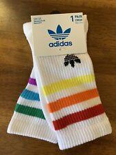 Adidas Socks Pride LGBT - Women's 5-10 Men's 5-9 Rainbow Vintage