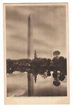 Washington Monument from Potomac Black & White DC Postcard UDB Undivided Back