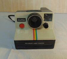 Vintage Polaroid Instant One Step 600 Land Camera Rainbow Stripe Untested
