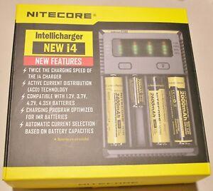 NITECORE New i4 smart battery charger IMR/Li-ion/Ni-MH/Ni-Cd 18650/16340 1.5~3.7