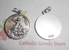 Saint St. Michael the Archangel - Italian Silver-tone OX Round 1 inch Medal