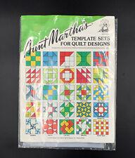 Aunt Martha's Template Sets for Quilt Designs