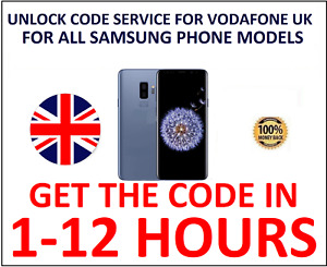 UNLOCK CODE For Vodafone UK SAMSUNG S10 S9 S8 S7 S6,Edge NOTE 10,9,8,5,4,3