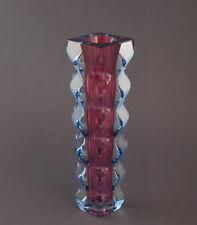 Oldrich Lipsky für Exbor, Vase in transparent/hellblau/rosa, 60er Jahre (# 8319)
