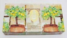 La Florentina Lemon House Italian Handmade Hand Soap | Boxed Set of 3 x 5.3 oz