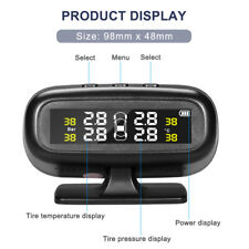 Universal Wireless Car Solar Tire Pressure Monitor System TPMS LCD Display Alarm
