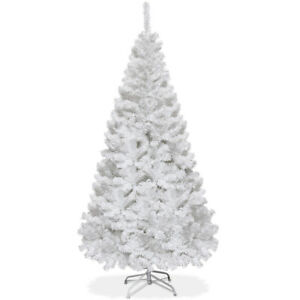 6Ft Artificial PVC Christmas Tree W/Stand Holiday Season Indoor Outdoor White