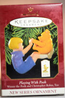 Hallmark - Playing With Pooh - Christopher Robin - 1999 Keepsake Ornament
