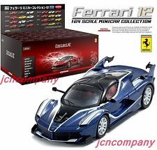 KYOSHO 1:64 Ferrari FXX K Shop Limited Blue Metallic + Ferrari12 20 Cars Set Box