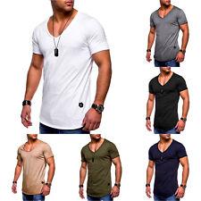 Herren Kurzarm Shirt Bodybuilding Muskelshirt Sommer Slim Fit T-Shirt Oberteil
