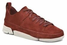 Clarks Mens Originals Trigenic Flex Nut Brown Leather Shoes in Size UK8 (EU42)