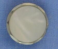 13mm White / Silver Shank Button