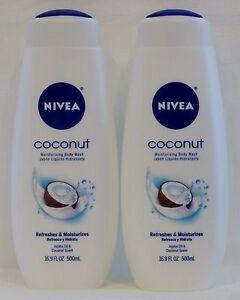 2 Nivea Coconut Moisturizing Body Wash 16.9 Oz