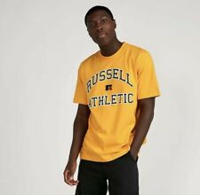 Mens Russell Athletic Escambia Arch Logo Gold Fusion T-Shirt BNWT Large  RRP £28