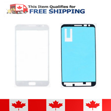 Samsung Galaxy Note White Front Glass Lens And Adhesive Sticker