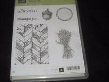 Stampin Up!  TRULY GRATEFUL CLEAR MOUNT RUBBER STAMP SET, THANKSGIVING, HARVEST