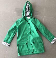 New Top Shop Ladies Hooded Raincoat UK 10 Pvc Green Waterproof Lined Rain Mac UK