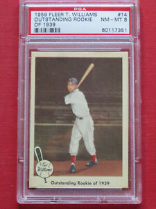 1959 Fleer Ted Williams #14 Outstanding Rookie of 1939 Red Sox NM-MT PSA 8