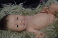 Full Body Soft Solid Silicone Baby doll/REBORN SILICONA fluids(inner sealed hair