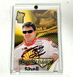 1998 Press Pass Racing VIP Tony Stewart Signed Autographed Rookie Card in Case