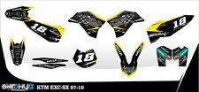 KIT ADESIVI GRAFICHE FBA KTM SX 125 150 250 2007 2008 2009 2010