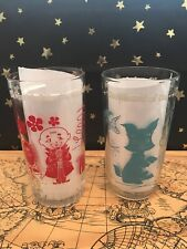 Wizard of Oz Glass - Set Of 2 -S & Co Peanut Butter Tumbler Vintage Preowned