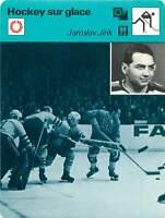 FICHE CARD: Jaroslav Jiřík Czechoslovakia Hockey sur glace ICE HOCKEY 1970s