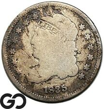 1835 Capped Bust Half Dime, Early Collector Type Coin