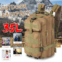 Outdoor 35L Military Backpack Tactical Bag Camping Hiking Rucksack Trave *f