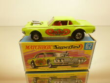 MATCHBOX SUPERFAST 62 MERCURY COUGAR RAT ROD - GREEN - GOOD IN BOX