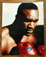 Evander Holyfield,Signed 8 x 10 Photo,Champion Cruiserweight & Heavyweight Boxer