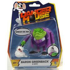 """Danger Mouse 3"""" / 8cm Baron Greenback & Nero Action Figure UK 4 Years + NEW"""