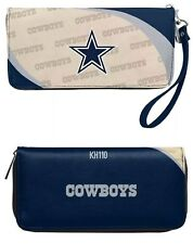 Dallas Cowboys NFL Curve Zip Organizer Ladies Wallet