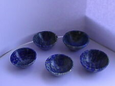"Natural Lapis Lazuli 2"" Hand Carved Gemstone Bowl"